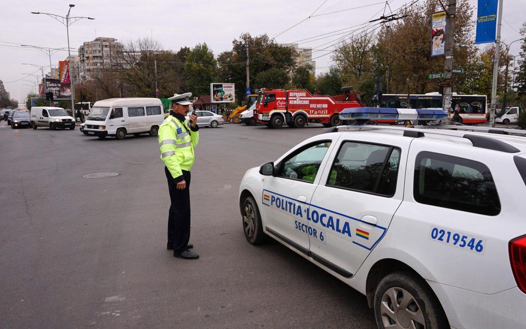 Poliţiştii locali Sector 6 desfăşoară acţiuni pentru fluidizarea circulaţiei în intersecţiile AFI Palace Cotroceni şi Valea Cascadelor