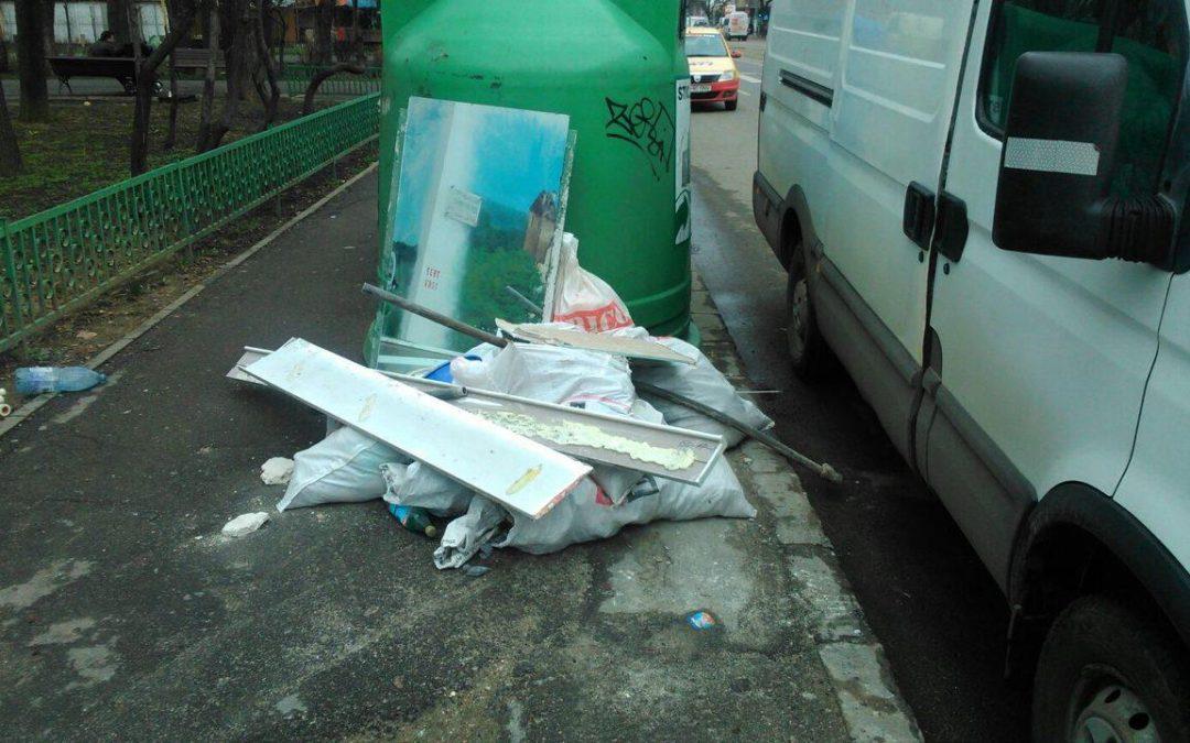 Poliţiştii locali Sector 6 aplică amenzi persoanelor care depozitează deşeuri provenite din materiale de construcţii pe domeniul public
