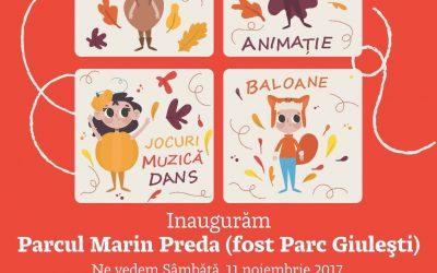 """Copiii vor avea parte de evenimente special organizate pentru ei,  la redeschiderea Parcului """"Marin Preda"""" din Giulești"""