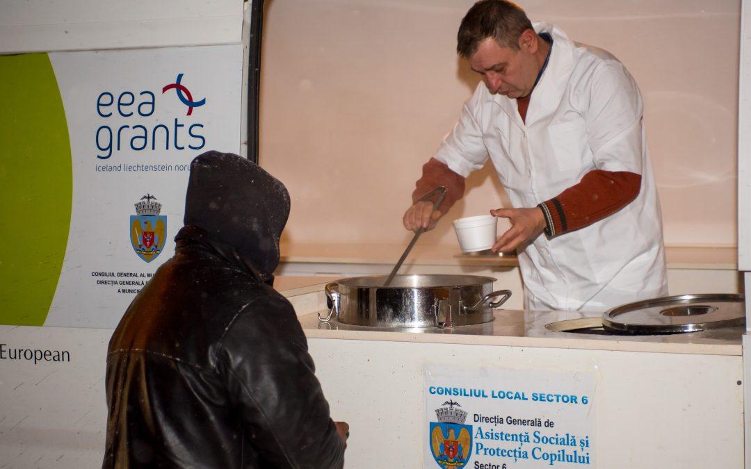 Persoanele fără adăpost primesc hrană caldă și cazare în centrele de asistență socială din Sectorul 6