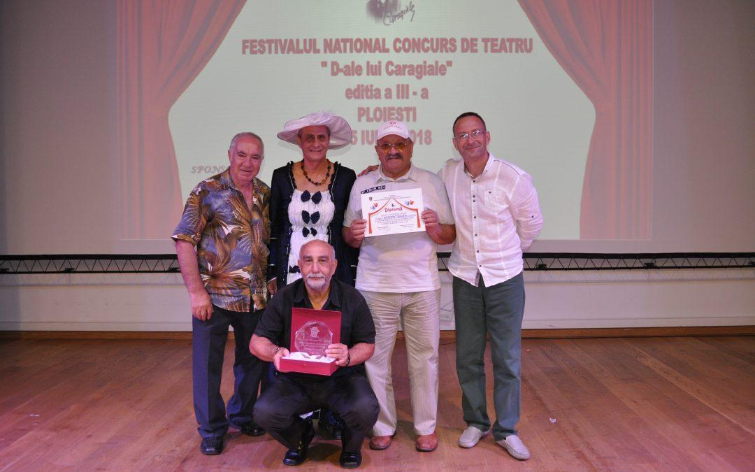 Încă un trofeu pentru seniorii iubitori de teatru din Sectorul 6