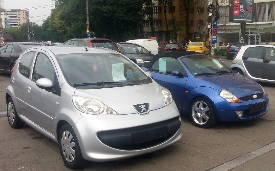 În Sectorul 6, expunerea spre vânzare a autovehiculelor pe domeniul public este sancţionată contravenţional