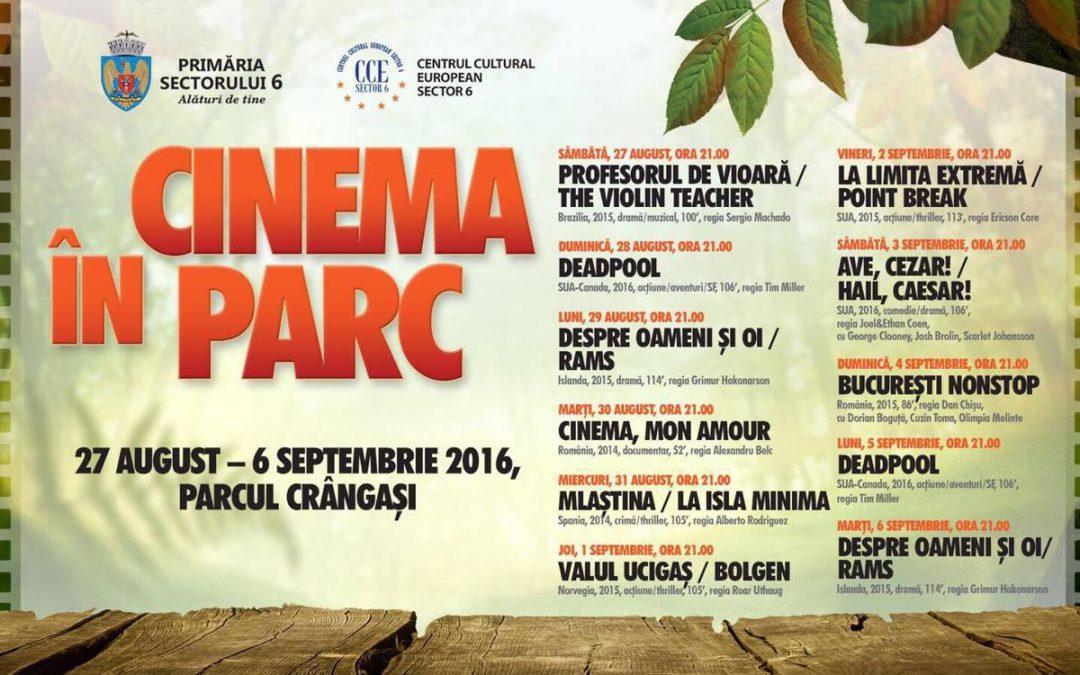 CINEMA ÎN PARC: proiecţii de film în Crângaşi