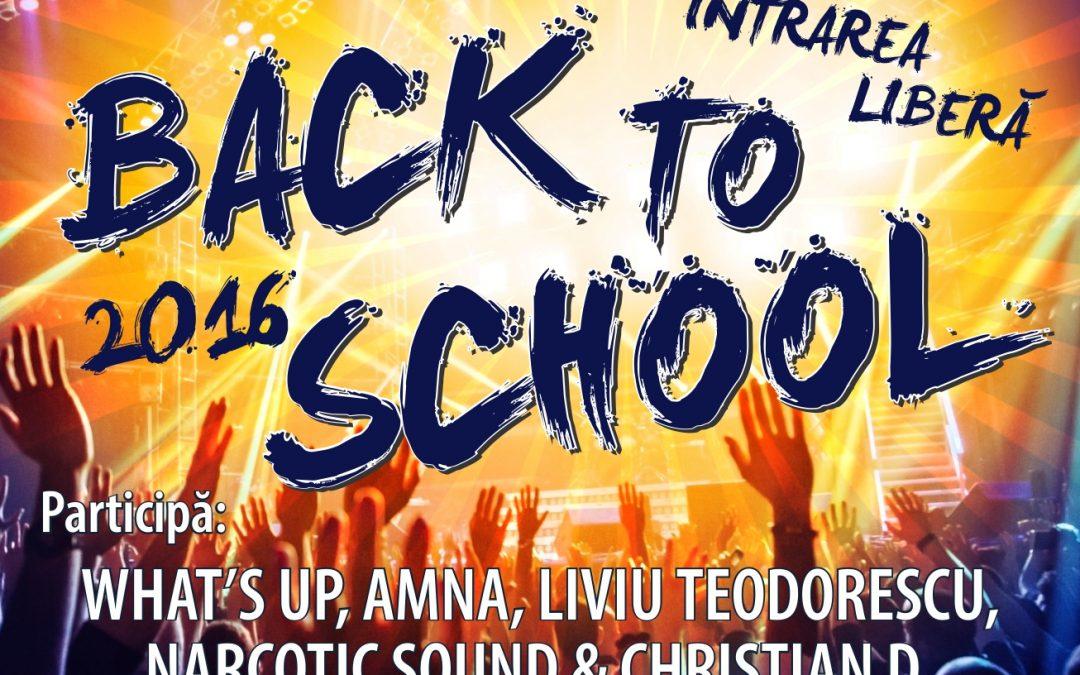 """""""Back to School"""", distracţie pentru toţi elevii în ultimul weekend al vacanţei de vară"""