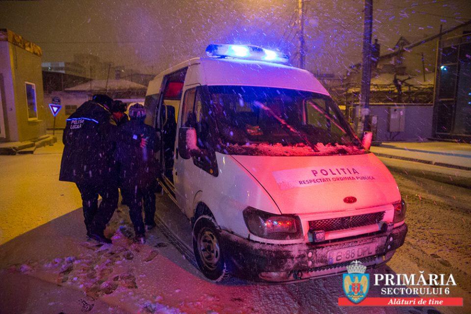 Încă  6 persoane fără adăpost au fost cazate noaptea trecută  în centrele sociale din Sectorul 6