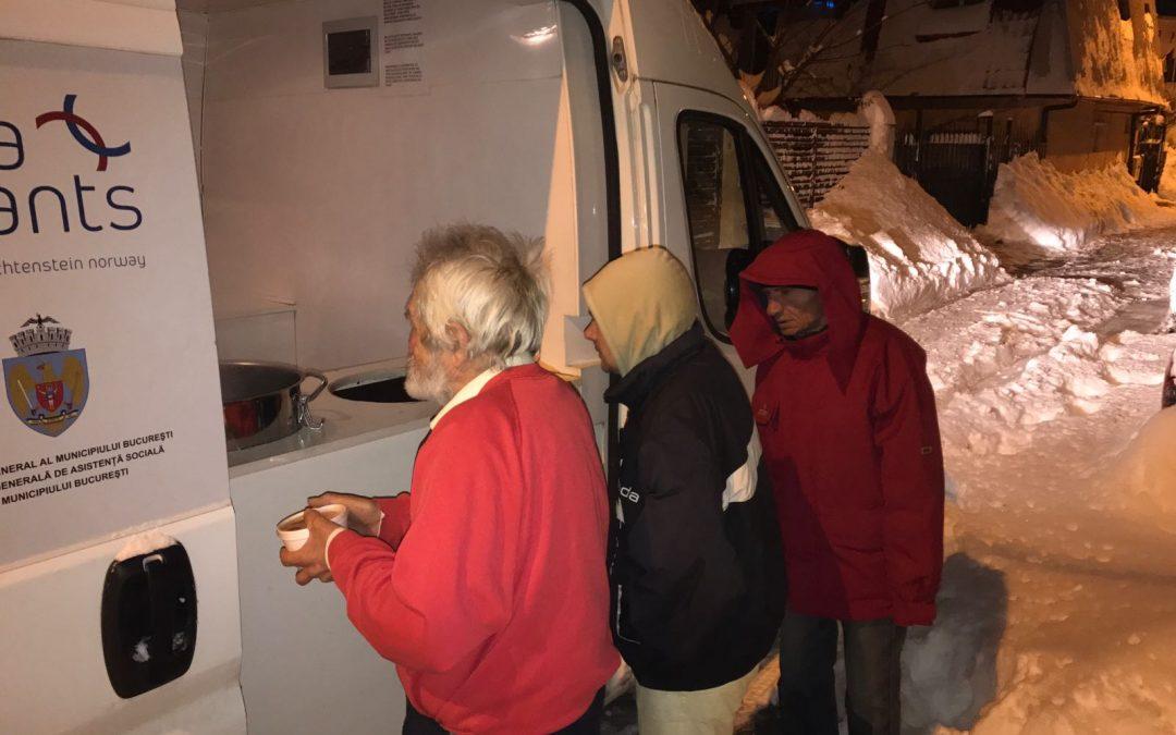 Adăpost, ceai şi asistenţă socială pentru persoanele fără adăpost din Sectorul 6