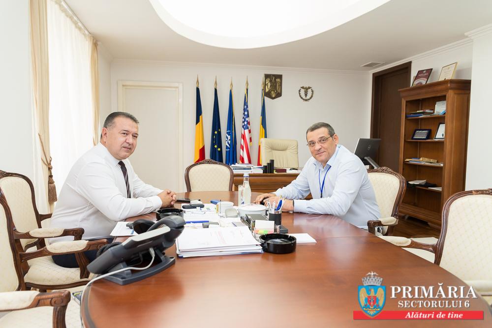 Întâlnire între Primarul Gabriel Mutu și Președintele Camerei de Comerț și Industrie a României, Mihai Daraban, pentru dezvoltarea mediului de afaceri din Sectorul 6