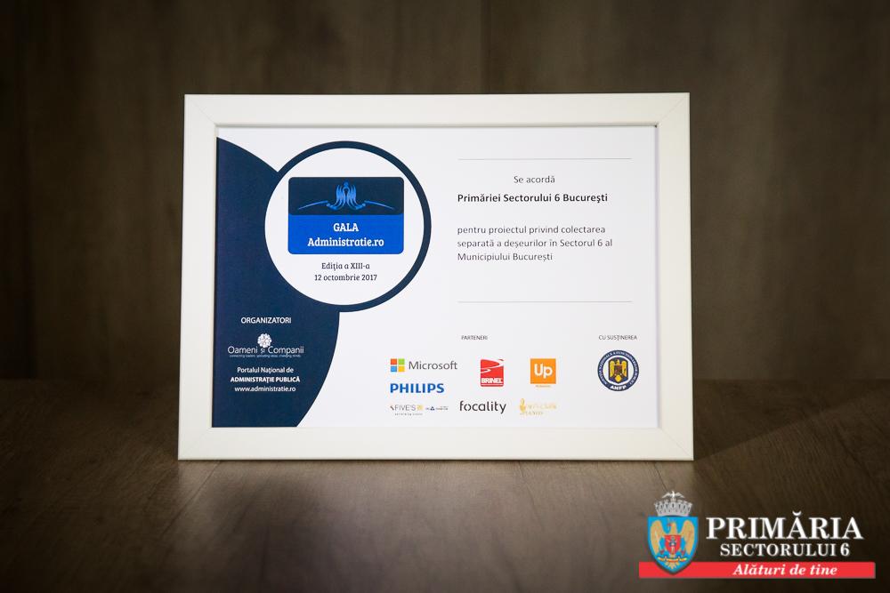 Premii de excelență pentru proiecte care se desfășoară în Sectorul 6