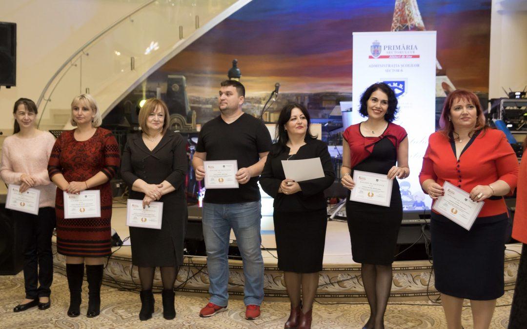 Dascălii din Sectorul 6, premiați la Gala Învăţământului Preuniversitar 2017