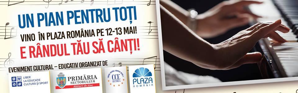 """""""Un pian pentru toți"""", muzică la mall"""