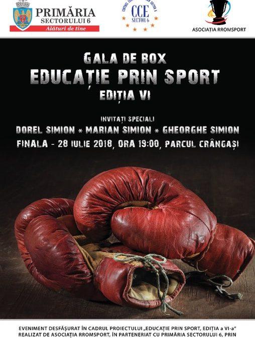 """Gala de Box """"Educație prin Sport, ediția a VI-a"""", în Parcul Crângași"""