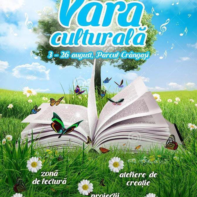 """""""Vara Culturală"""" – eveniment cultural de vacanță, în Parcul Crângași"""