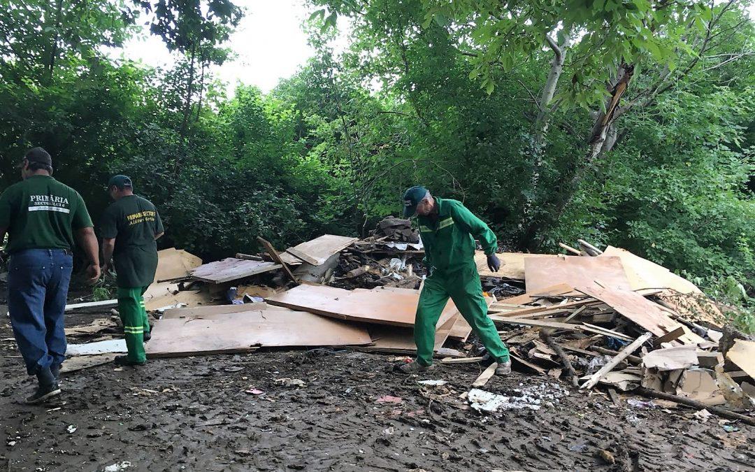 Adăposturi improvizate și 4 tone de deșeuri au fost ridicate din zona Bulevardului Timișoara