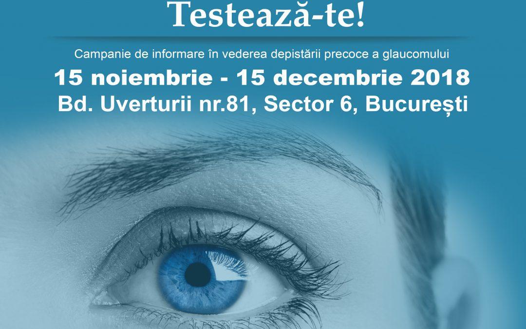 Campanie de depistare a glaucomului în Sectorul 6