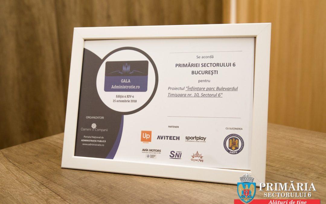 Premii de bună practică în administrație, acordate Primăriei Sectorului 6