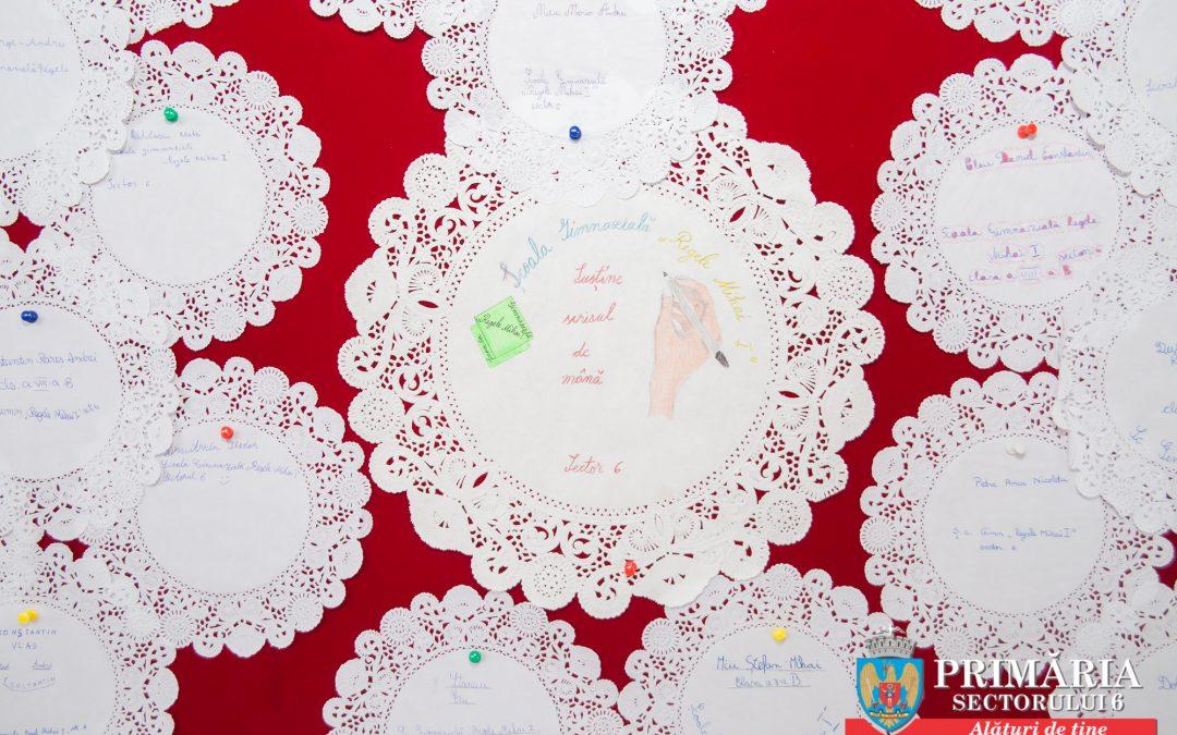 """23 ianuarie – Ziua Scrisului de Mână este sărbătorită în Sectorul 6 prin proiectul """"Scrisul frumos, la îndemâna elevilor"""""""