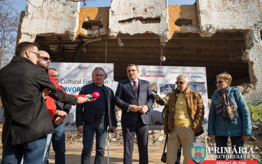 Au început lucrările de reconstrucție la Cinema Favorit din Drumul Taberei. Clădirea va fi transformată în centru cultural multifuncțional