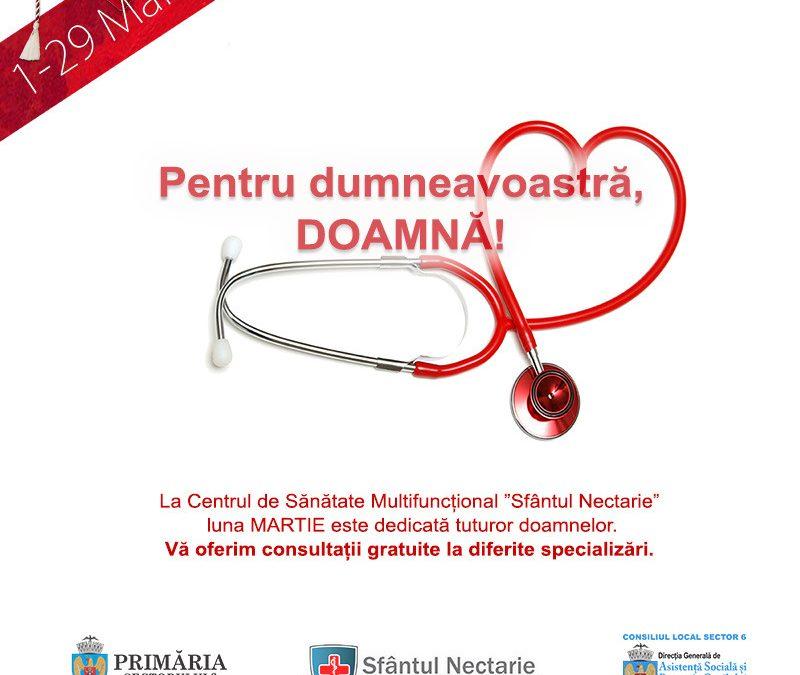 Campania de consultaţii medicale gratuite pentru femei continuă în Sectorul 6
