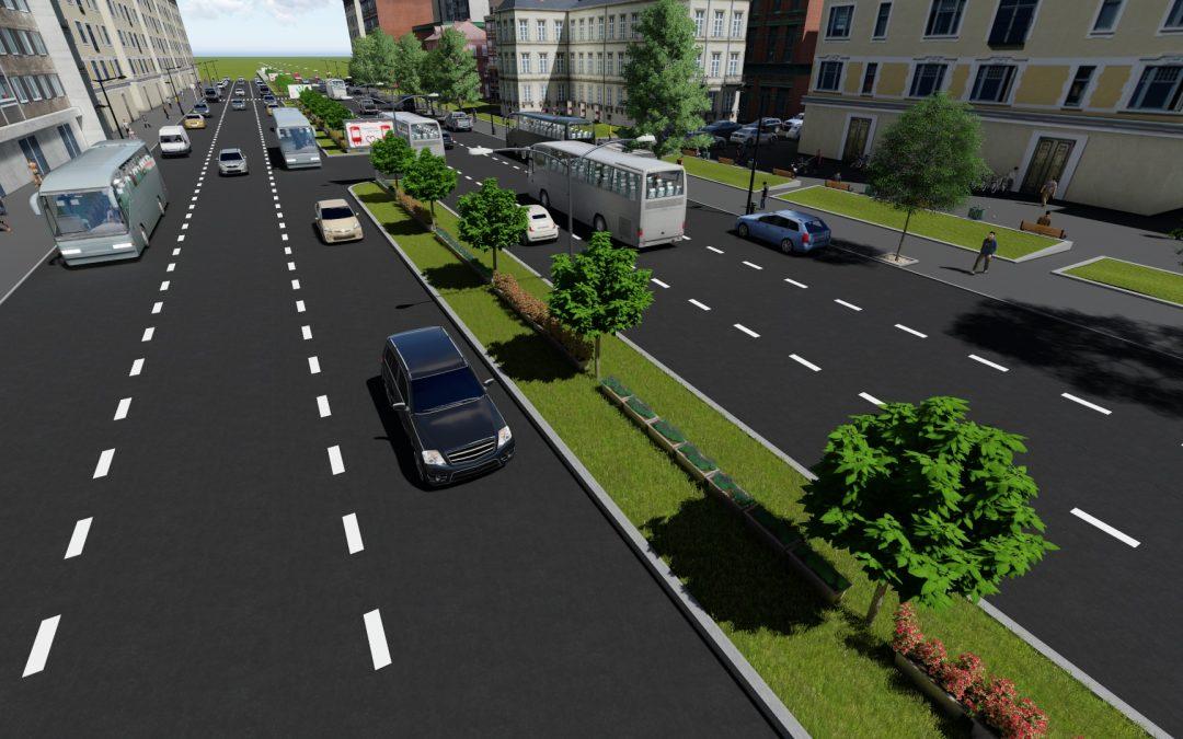 Au început lucrările de reamenajare peisagistică şi urbanistică a bulevardului Iuliu Maniu