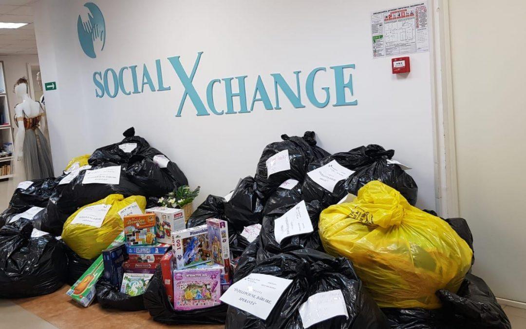 Donații SocialXChange pentru persoanele nevoiașe din satele de lângă Dunăre
