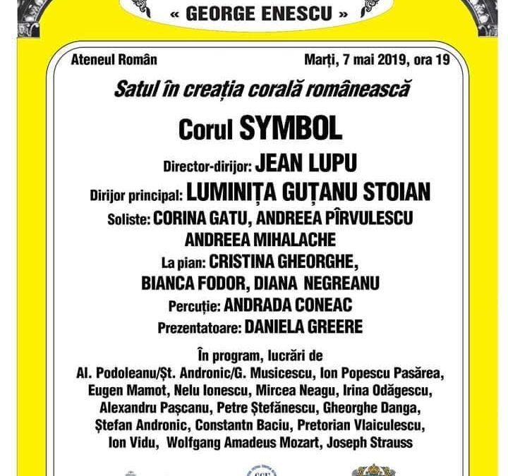 """""""Satul în creaţia corală românească"""", pe scena Ateneului Român"""