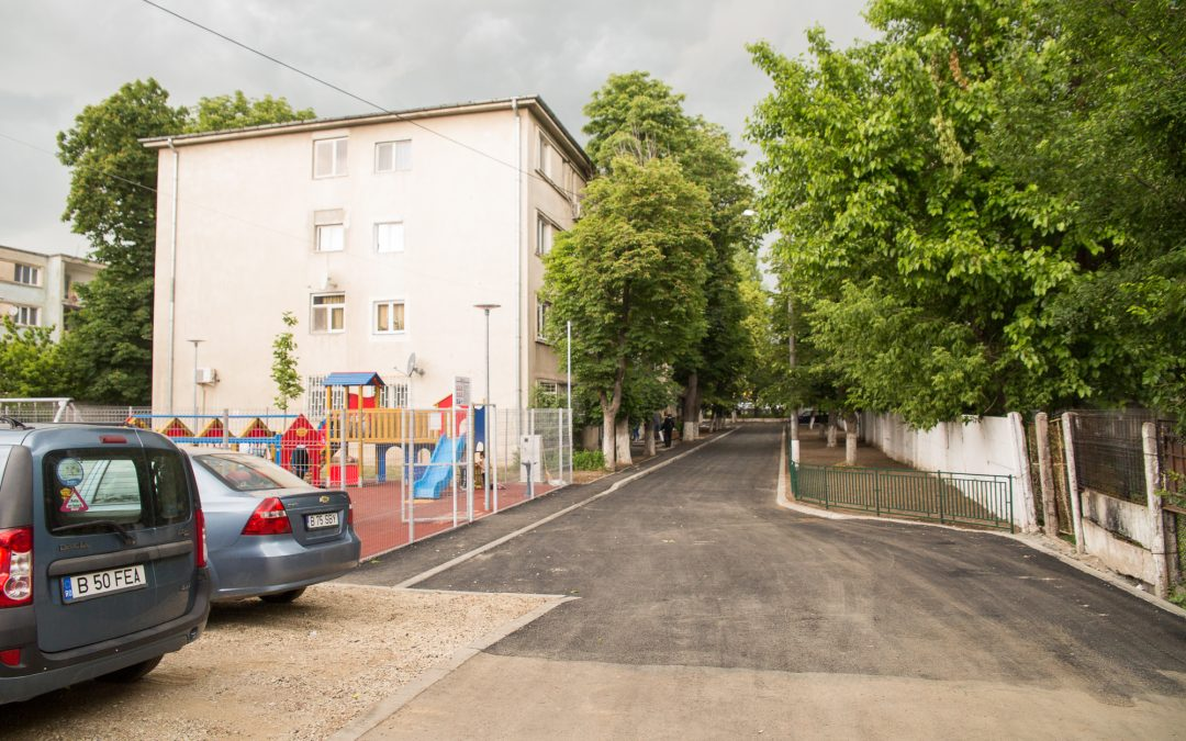 Zona de locuinţe din Strada Preciziei, modernizată de Primăria Sector 6:  străzi şi trotuare reparate, parcări refăcute, locuri noi de joacă