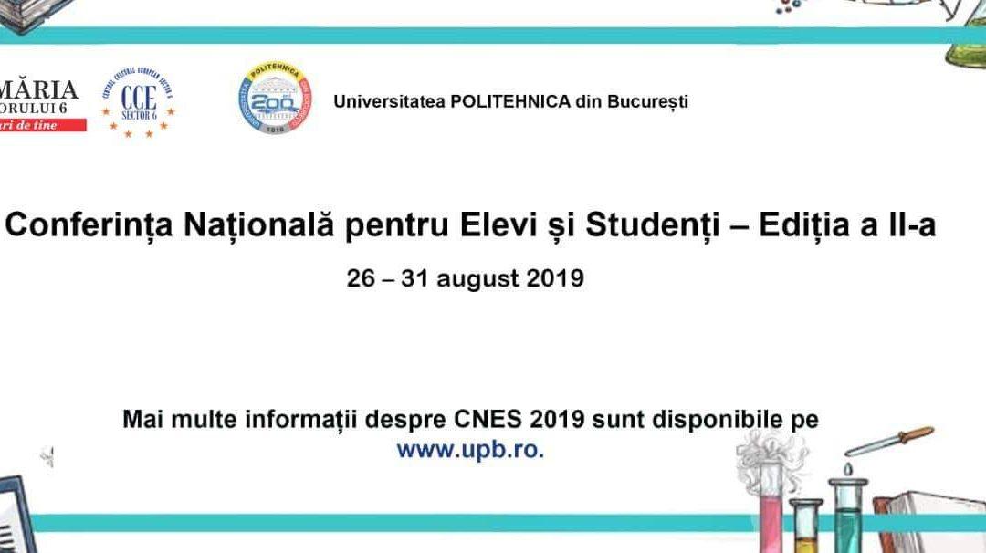 """Elevii află tainele studenției la """"Conferința națională pentru elevi și studenți"""""""