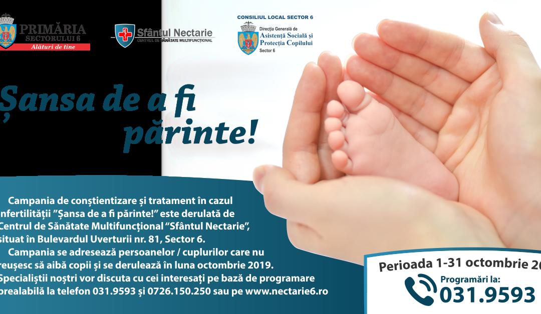 Șansa de a fi părinte! Campanie de conștientizare și tratament în cazul infertilității