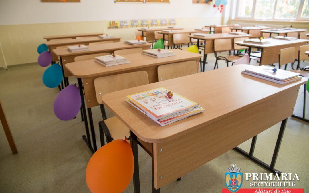 Ample lucrări și investiții, derulate în beneficiul elevilor din Sectorul 6