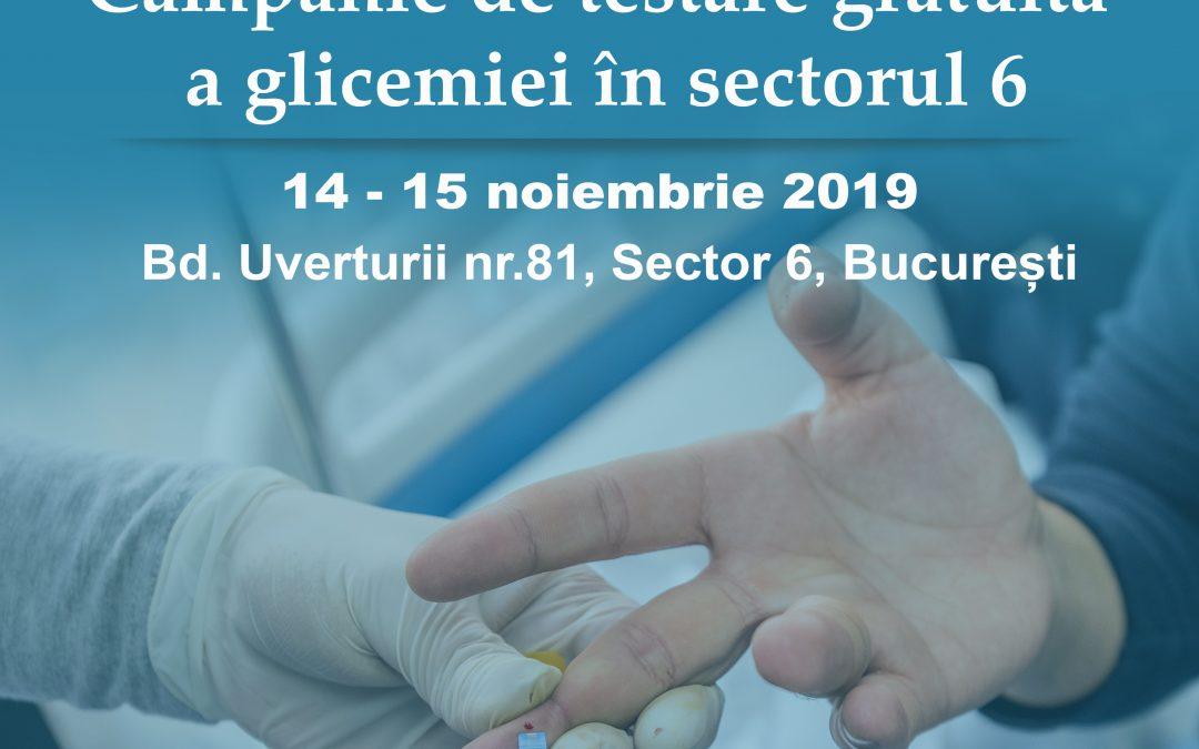 Campanie de testare gratuită a glicemiei, în Sectorul 6