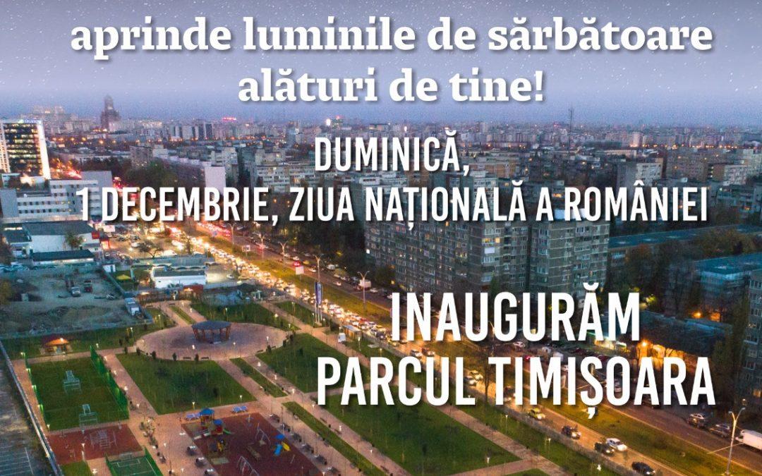 INVITAȚIE DE PRESĂ – Deschiderea Parcului Timisoara
