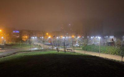 Au fost finalizate lucrările de amenajare a reţelei de iluminat public în Parcul ANL Brâncuşi Sistemul este dotat cu telegestiune (control la distanţă)