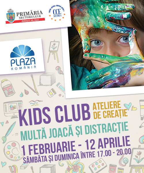 "De Mărțișor, un nou weekend distractiv ""Kids Club"""