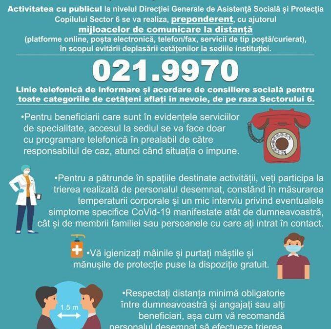 Peste 2.500 de apeluri la 021.9970 – număr unic de informare și consiliere socială din Sectorul 6