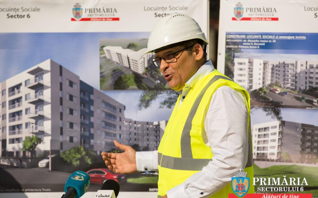 În Sectorul 6, 246 de locuințe sociale vor fi gata la cheie în mai puțin de 24 de luni