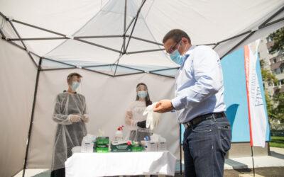 """""""Votează în siguranță!"""" în Sectorul 6 – Alegătorii primesc gratuit măști medicinale, mănuși de unică folosință și dezinfectant în doze individuale"""