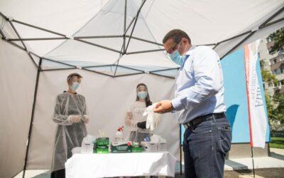 """""""Votează în siguranță!"""" – o campanie a autorității locale a Sectorului 6 – A început montarea corturilor tehnice pentru protecția alegătorilor"""