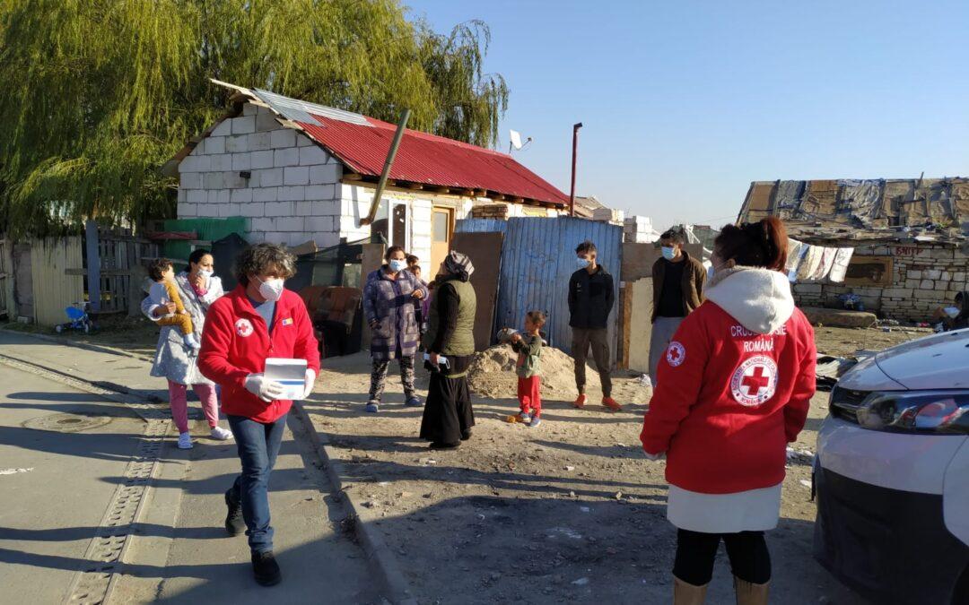 Crucea Roșie ajută familiile nevoiașe din Sectorul 6