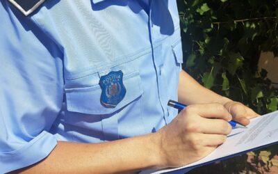 Acțiuni desfășurate de catre politistii locali în perioada 06.09.2021 – 12.09.2021 în vederea respectării ordinii şi liniştii publice