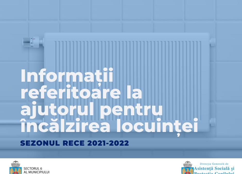 Începând din data de 20 octombrie 2021, cetățenii sectorului 6 pot depune cereri pentru obținerea ajutorului de încălzire